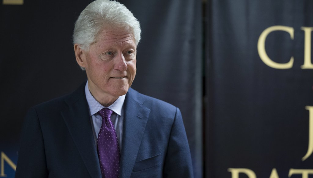 Former President Bill Clinton said he left the White House $16 million in debt in an interview on NBC on June 4, 2018.