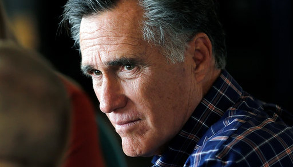 Mitt Romney speaks during a campaign stop in Green River, Utah, on March 3, 2018 (AP Photo).