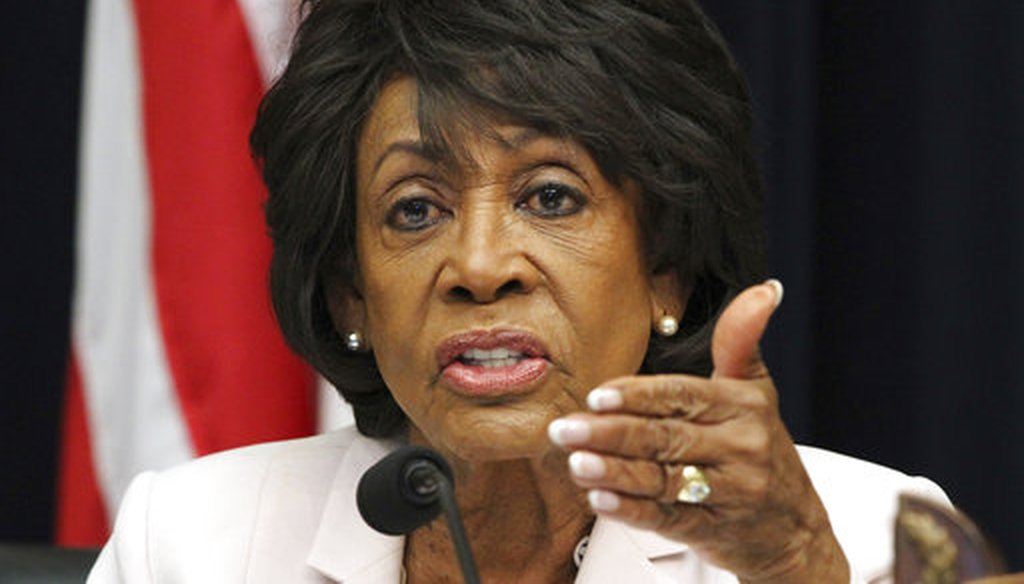 U.S. Rep. Maxine Waters, D-Calif., asks a question of Housing and Urban Development Secretary Ben Carson, during a hearing on June 27, 2018 (AP/Jacquelyn Martin)