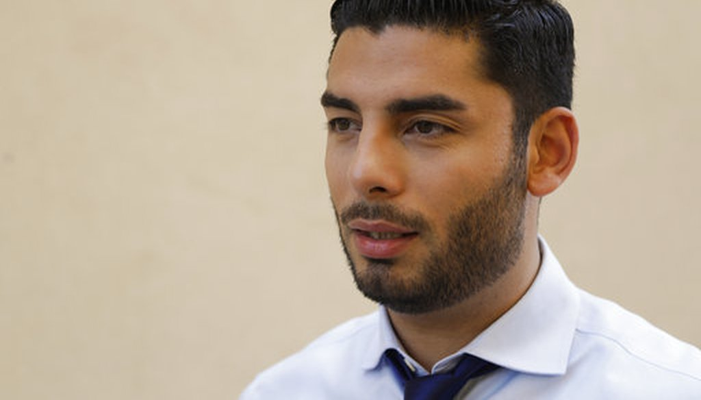 Democratic congressional candidate Ammar Campa-Najjar speaks on Aug. 22, 2018, in San Diego. (AP/Gregory Bull)