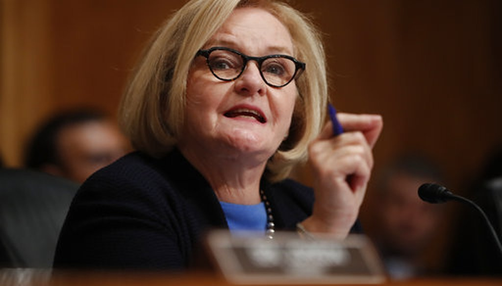 Sen. Claire McCaskill, D-Mo., speaks during a hearing on Capitol Hill on Sept. 18, 2018. (AP/Pablo Martinez Monsivais)