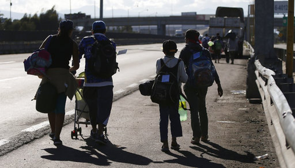 Central American migrants arrive to the City Mexico, as part of a thousands-strong caravan hoping to reach the U.S., Monday, Nov. 5, 2018. (AP)