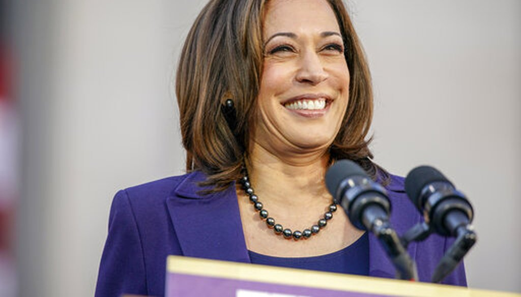 Democratic Sen. Kamala Harris of California formally launches her presidential campaign in her hometown of Oakland, Calif., on Jan. 27, 2019. (AP)