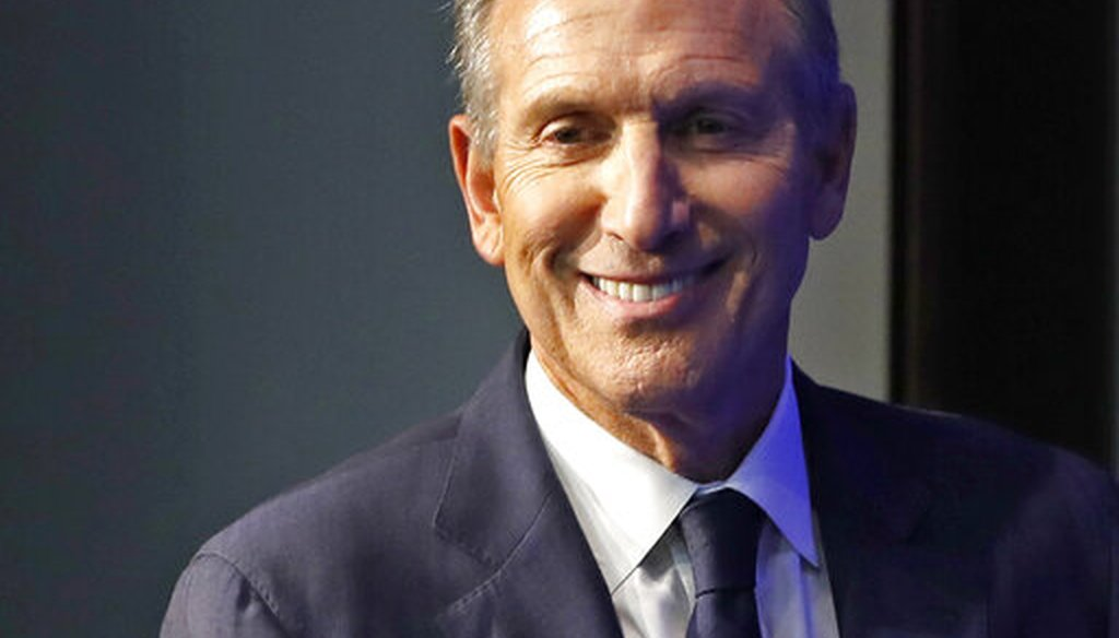 Former Starbucks CEO and Chairman Howard Schultz smiles as he walks on stage at the kickoff event for his book promotion tour Monday, Jan. 28, 2019, in New York. Schultz has teased the prospect of a 2020 presidential bid. (AP Photo/Kathy Willens)