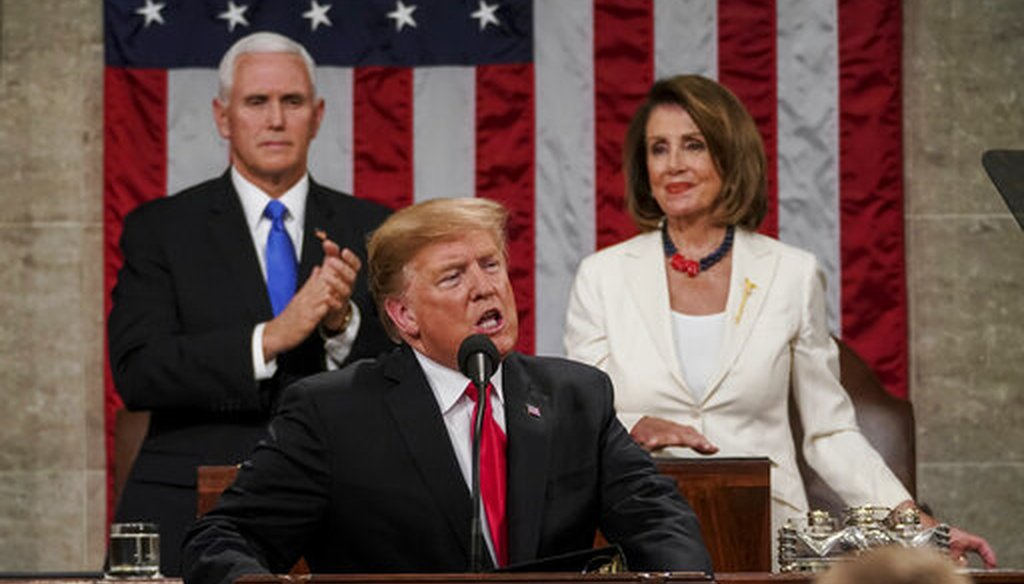 President Donald Trump delivers the 2019 State of the Union address on Feb. 5, 2019. (AP)