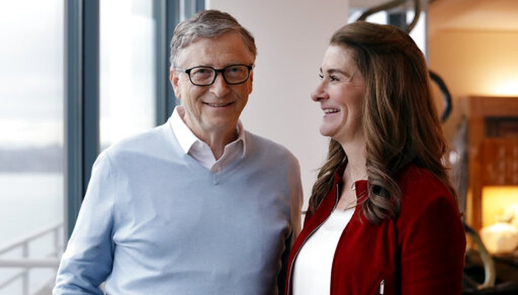 Bill and Melinda Gates pose for a photo in Kirkland, Wash., on Feb. 1, 2019. (AP)