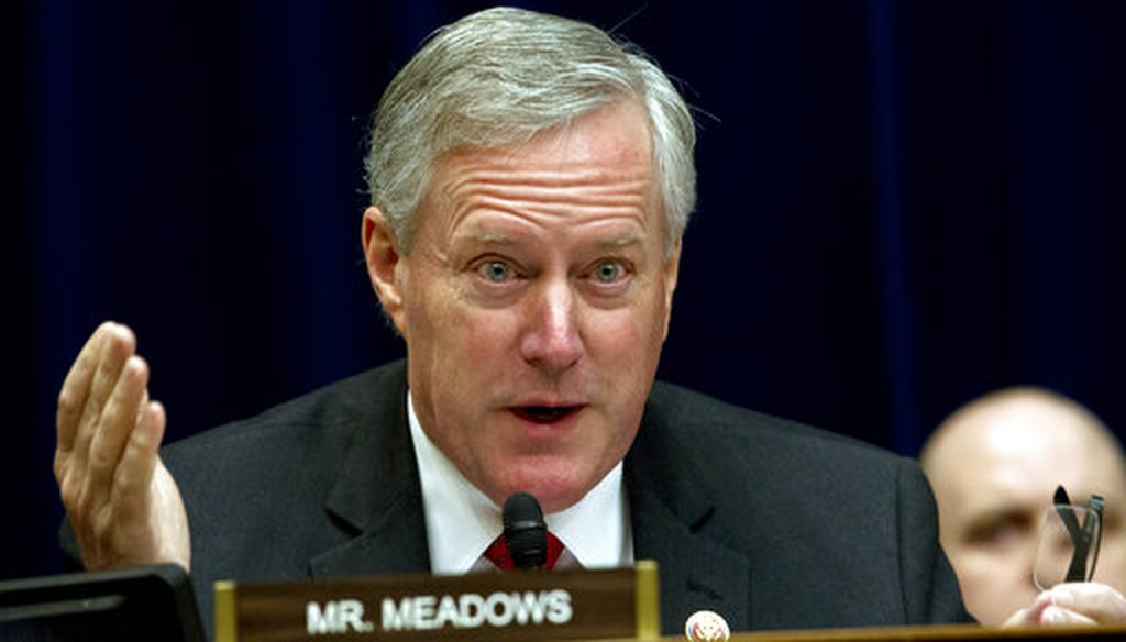 Rep. Mark Meadows, R-N.C., questions Commerce Secretary Wilbur Ross during the House Oversight Committee hearing on March 14, 2019. (AP/Jose Luis Magana)