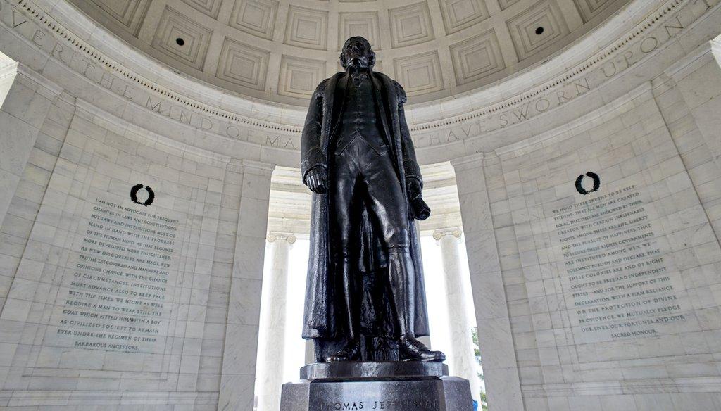 The Thomas Jefferson Memorial is seen on March 11, 2019, in Washington D.C. (AP/Tenally)