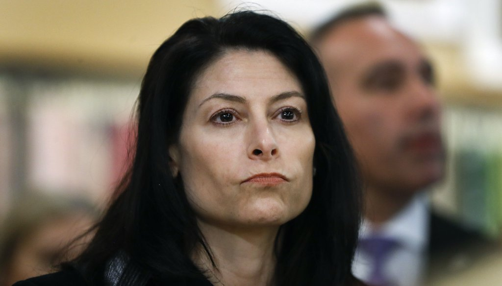 Michigan Attorney General Dana Nessel, shown in this 2019 file photo, approved an investigation into the spread of election misinformation. (AP)