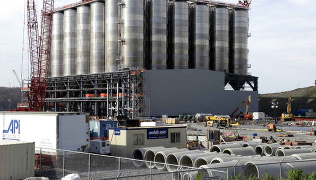 This petrochemical plant on the Ohio River in Monaca, Pa., is being built by the Royal Dutch Shell Co. (AP)