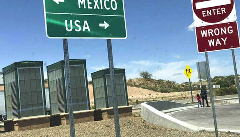 The Mexico-U.S. border check point near the Nogales/Mariposa Port of Entry in Nogales, Ariz. (AP)