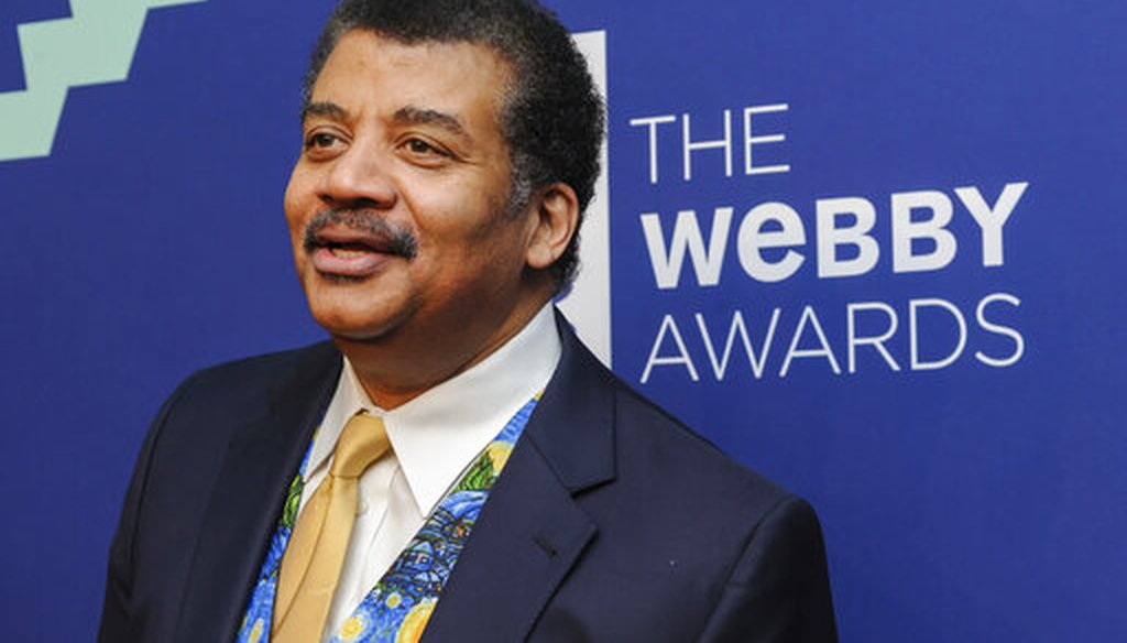 Neil deGrasse Tyson attends the Webby Awards on May 13, 2019, in New York. (AP/Smith)