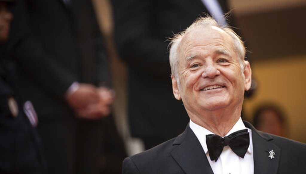 Bill Murray arrives at the premiere of the film 'The Dead Don't Die' at the Cannes film festival in France, in May 2019. (AP)