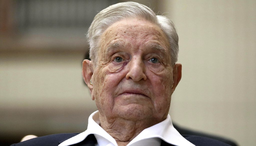 George Soros, Founder and Chairman of the Open Society Foundations, looks before the Joseph A. Schumpeter award ceremony in Vienna, Austria on June 21, 2019. (AP)