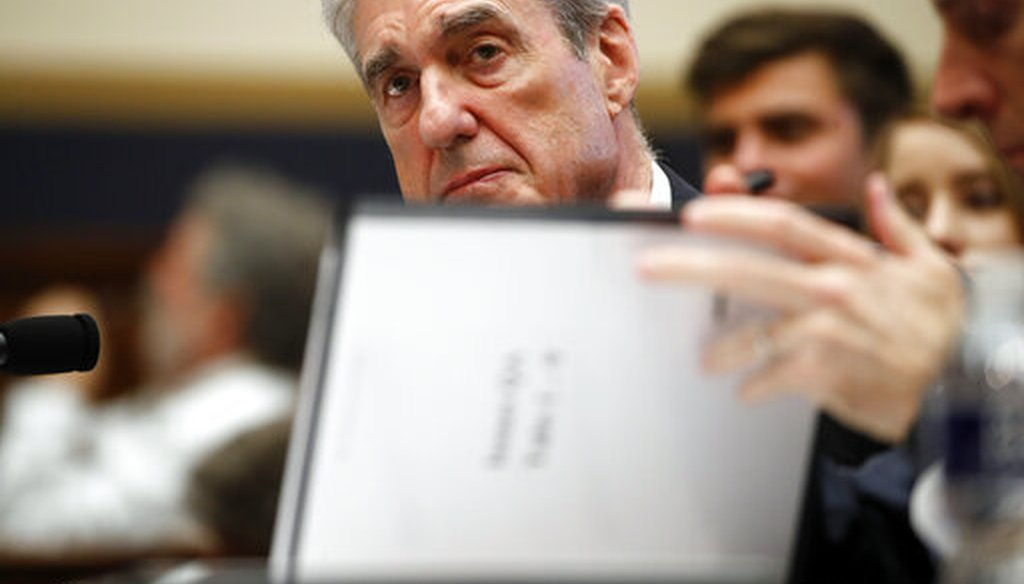 Former special counsel Robert Mueller testifies before the House Judiciary Committee on July 24, 2019, in Washington. (AP/Brandon)