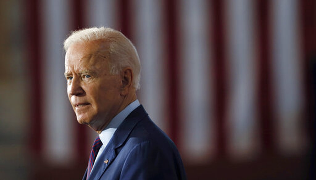 Democratic presidential candidate and former Vice President Joe Biden speaks during a community event on Aug. 7, 2019, in Burlington, Iowa. (AP/Neibergall)