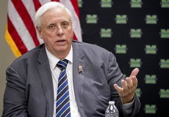 How low is Gov. Jim Justice's approval rating in West Virginia?