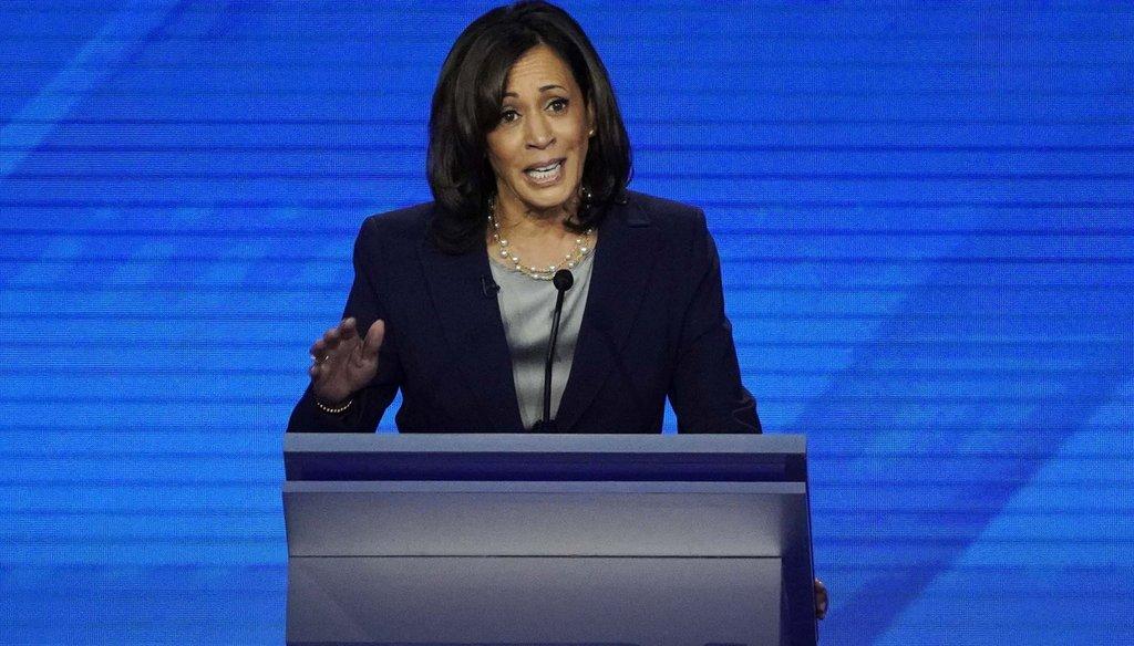 Kamala Harris on Sept. 12, 2019, during a Democratic presidential primary debate in Houston. (AP)