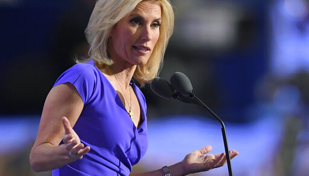 Fox News host Laura Ingraham speaks during the Republican National Convention in Cleveland on July 20, 2016. (AP/Terrill)
