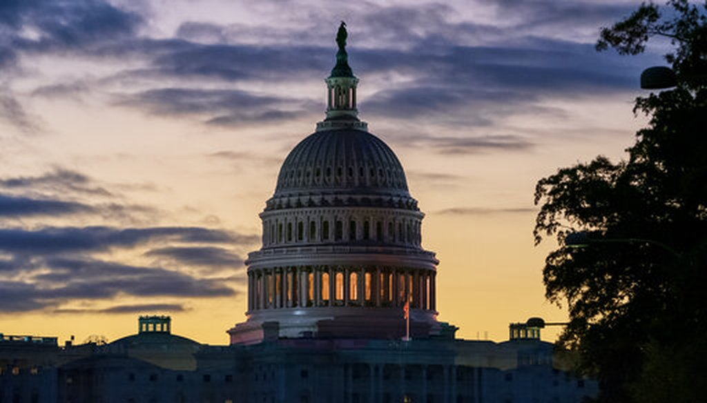 The Capitol is seen at dawn in Washington on Oct. 29, 2019. (AP/Applewhite)