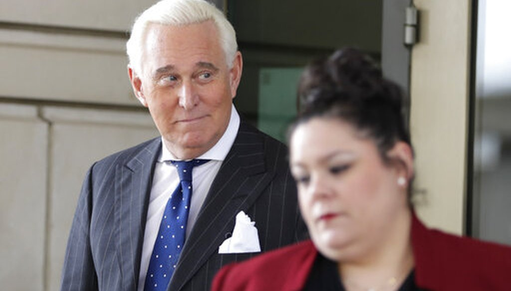 Roger Stone exits federal court in Washington on Nov. 15, 2019. (AP/Cortez)