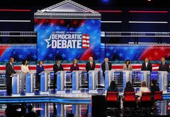 In this Democratic debate, health care issues took a backseat