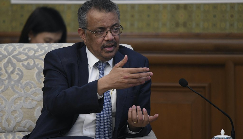 Tedros Adhanom, director general of the World Health Organization. (AP)