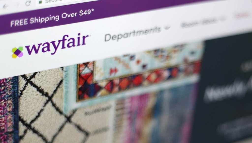 This April 17, 2018, file photo shows the Wayfair website on a computer in New York. (AP)