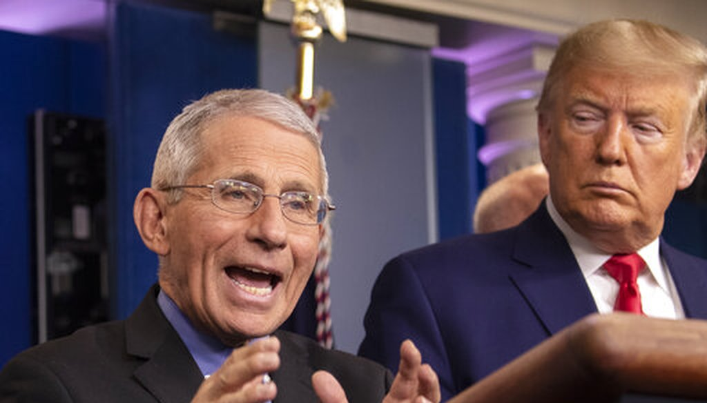 National Institute for Allergy and Infectious Diseases Director Dr. Anthony Fauci speaks during a press briefing with President Donald Trump about the coronavirus, Feb. 29, 2020. (AP)