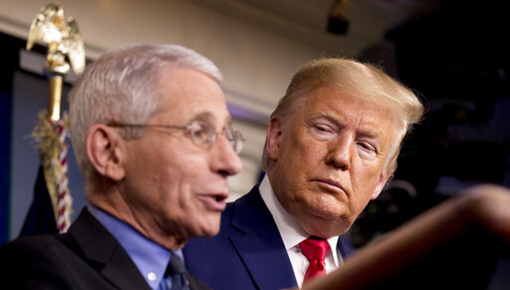 National Institute for Allergy and Infectious Diseases Director Anthony Fauci, left, joins President Donald Trump at a White House news conference on Feb. 29. (AP)