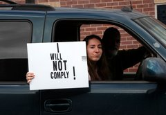 No evidence that a Lansing, Mich., protester said he has COVID-19