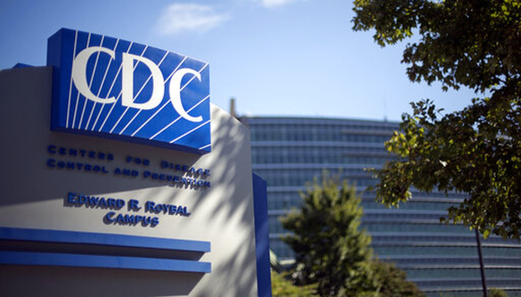A sign marking the entrance to the Centers for Disease Control and Prevention building in Atlanta is shown on Oct. 8, 2013. (AP/Goldman)