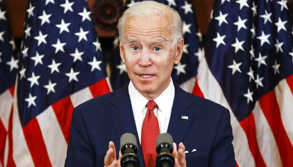 Democratic presidential candidate Joe Biden speaks in Philadelphia, June 2, 2020. (AP)