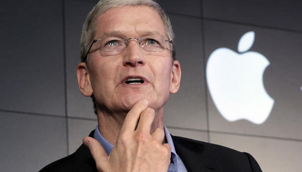 Apple CEO Tim Cook in 2015. (AP)