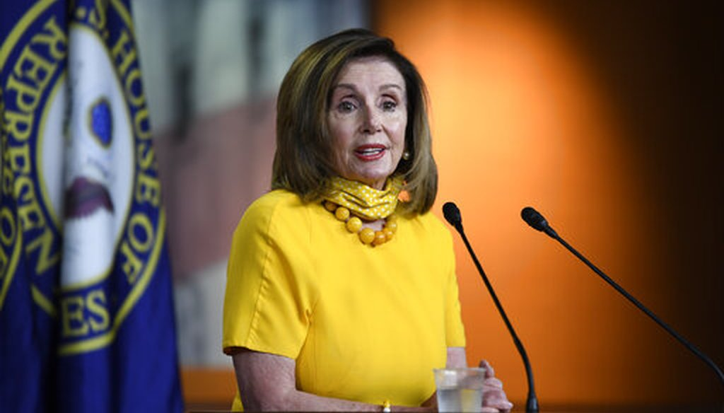 House Speaker Nancy Pelosi speaks during a news conference in Washington on June 11, 2020. (AP)