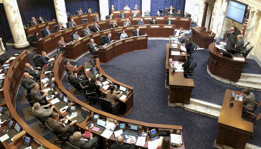 This Feb. 27, 2020, file photo, shows the Idaho House of Representatives in the Idaho Statehouse in Boise, Idaho. (AP)