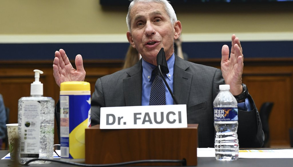 Director of the National Institute of Allergy and Infectious Diseases Dr. Anthony Fauci testifies before a House Committee on Energy and Commerce on the Trump administration's response to the COVID-19 pandemic on Tuesday, June 23, 2020. (AP)