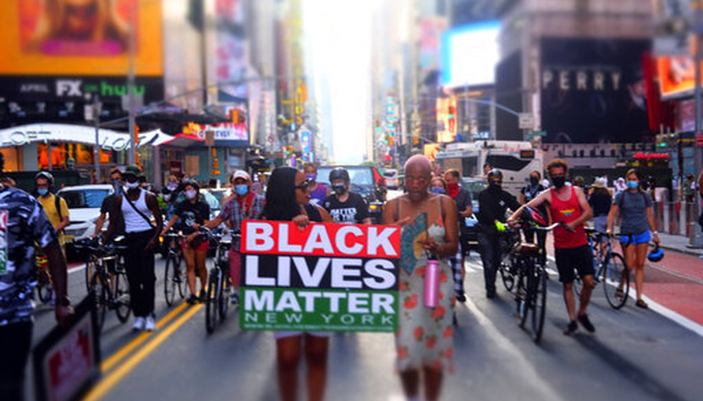 Protect Black Women March and Rally held in the Times Square area on July 26, 2020 in New York City (AP)