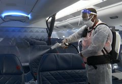 What is the risk of getting coronavirus on a plane?
