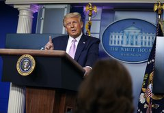 Donald Trump gives oxygen to baseless QAnon conspiracy theory