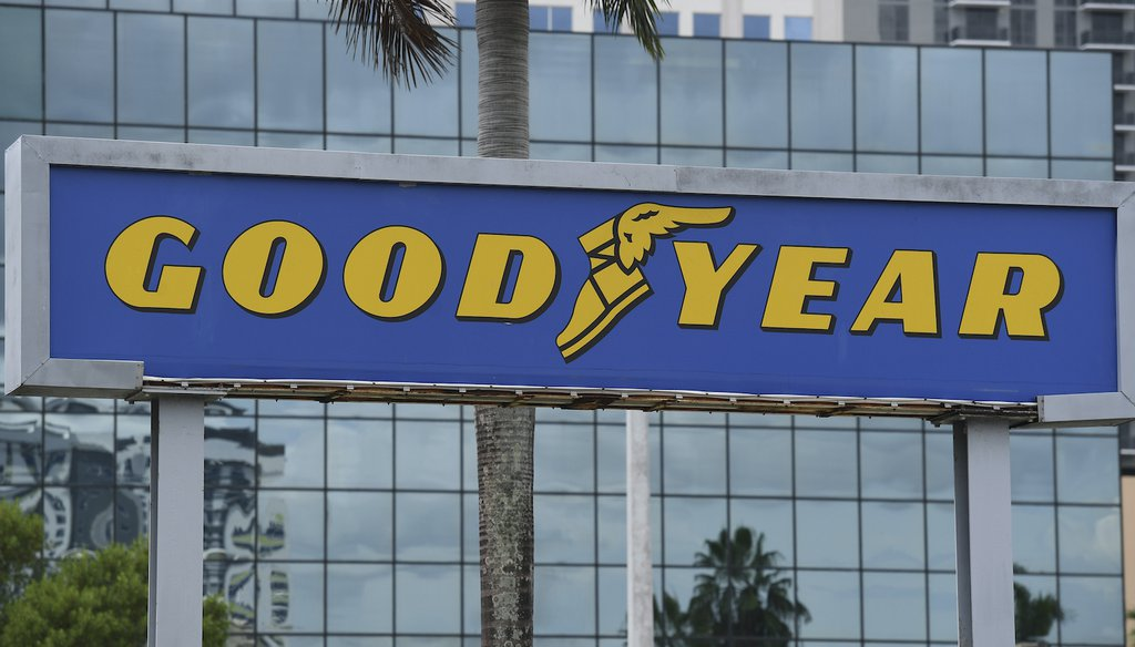 A general view of the Goodyear tire and service center. (AP)