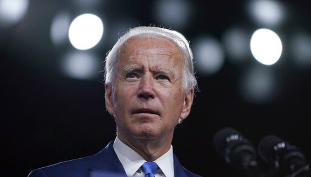 Democratic presidential candidate and former Vice President Joe Biden speaks in Wilmington, Del., on Sept. 2, 2020, about school reopenings. (AP/Kaster)