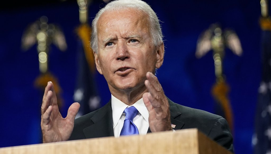Vice President Joe Biden speaks during the fourth day of the Democratic National Convention. (AP)