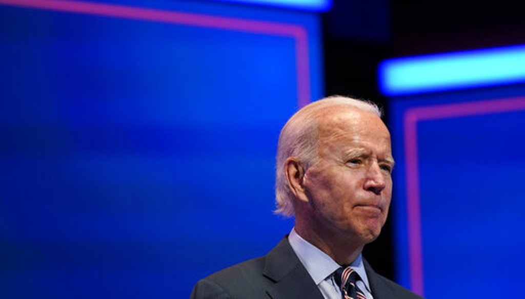 Democratic presidential nominee Joe Biden speaks after participating in a coronavirus vaccine briefing with public health experts on Sept. 16, 2020, in Wilmington, Del. (AP)