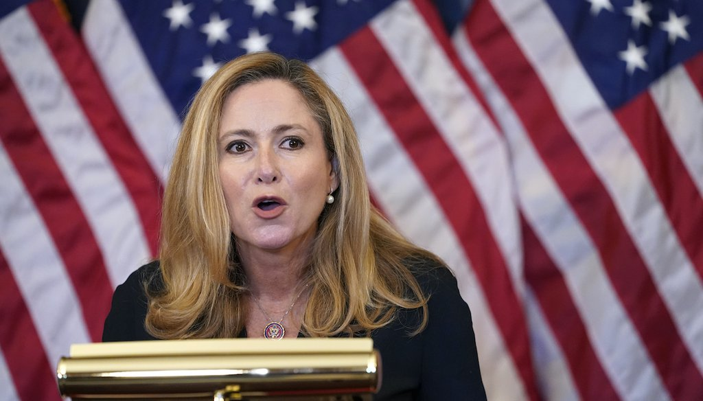 Rep. Debbie Mucarsel-Powell, a South Florida Democrat, is being challenged in the 2020 election by Miami-Dade Mayor Carlos Gimenez, a Republican. (AP)