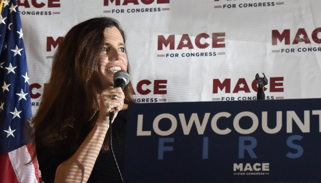 Republican Nancy Mace is challenging U.S. Rep. Joe Cunningham, D-S.C., for his House seat in the Nov. 3, 2020 election. (AP)