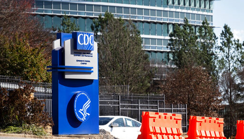 The Centers for Disease Control and Prevention headquarters in Atlanta on March 6, 2020. (AP/ Harris)