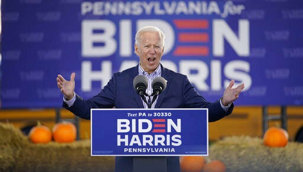 PolitiFact | Fact-checking Joe Biden's closing arguments of the 2020 campaign