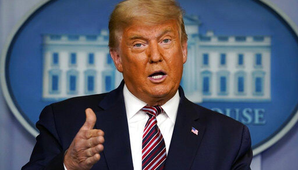 President Donald Trump speaks at the White House on Nov. 5, 2020. (AP)
