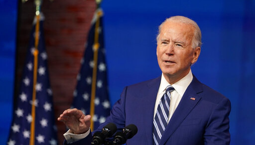 President-elect Joe Biden announces his choice of retired Army Gen. Lloyd Austin to be Defense secretary in Wilmington, Del., on Dec. 9, 2020. (AP)